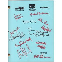 Spin City Cast Signed Shooting Script
