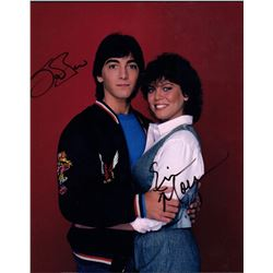 Scott Baio Erin Moran Signed 8x10 Photo