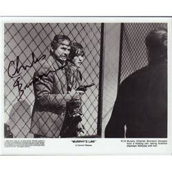 Charles Bronson Murphy's Law Signed 8x10 Photo