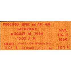 Original Woodstock Music Festival Ticket