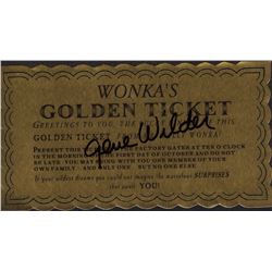 Gene Wilder Willy Wonka Signed Golden Ticket