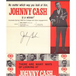 Johnny Cash Signed Tour Brochure