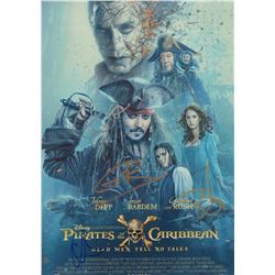 Pirates of the Caribbean Cast Signed 11x17 Mini Poster