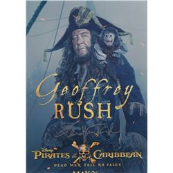 Geoffrey Rush Pirates of the Caribbean Signed 11x17 Photo