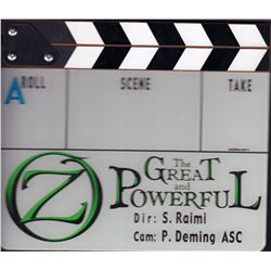 Oz The Great and Powerful Original Set Used Clapboard