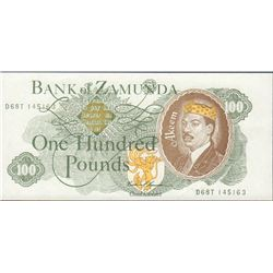 Coming to America Bank of Zamunda Prop Hundred Pounds Currency Bill