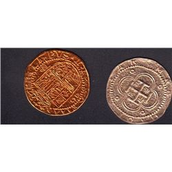 Pirates of the Caribbean Set of Two Prop Doubloons