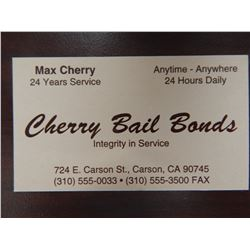 Jackie Brown Max Cherry Screen Used Business Card