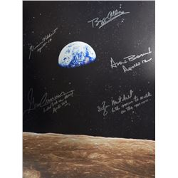 16x20 Photograph Signed by Five Moonwalkers