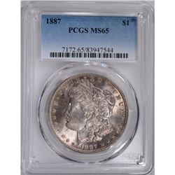 1887 MORGAN DOLLAR, PCGS MS-65