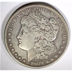 1904-S MORGAN DOLLAR, VF