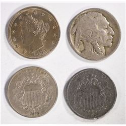 4 DIFFERENT DATE NICKELS