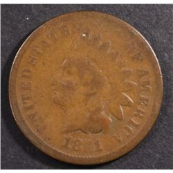 1871 INDIAN HEAD CENT G-VG  KEY