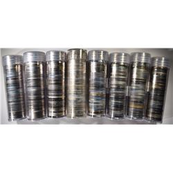8 ROLLS OF MIXED DATE PROOF JEFFERSON NICKELS