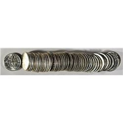 BU ROLL OF MIXED DATE SILVER DIMES 1964 & EARLIER
