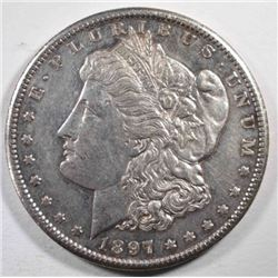 1897-S MORGAN DOLLAR, AU/BU