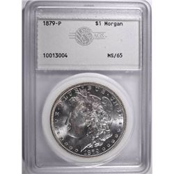 1879 MORGAN DOLLAR, AGS GEM BU