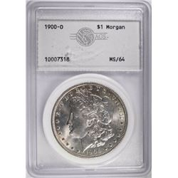 1900-O MORGAN DOLLAR, AGS CH/GEM BU