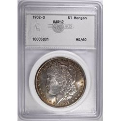 1902-O MORGAN DOLLAR, AGS UNC
