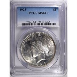 1923 PEACE DOLLAR, PCGS MS-64+