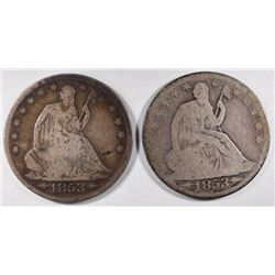 1853-O G & 1853 G+ A&R SEATED LIBERTY