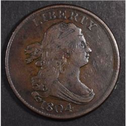 1804 HALF CENT VF+  VERY NICE