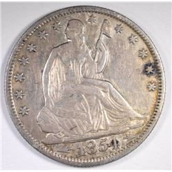 1854-O ARROWS SEATED HALF DOLLAR XF/AU