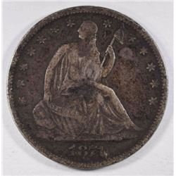 1871-S SEATED LIBERTY HALF DOLLAR VF