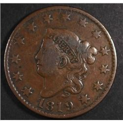 1819 LARGE CENT  VF