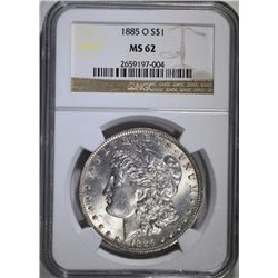 1885-O MORGAN DOLLAR NGC MS62