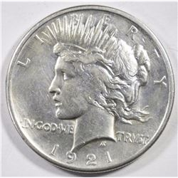 1921 PEACE DOLLAR AU CLEANED KEY DATE