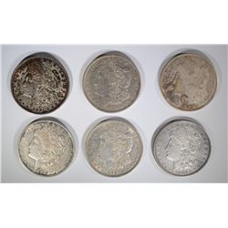 4-1921 & 2-1921 D MORGAN DOLLARS ( 6 TOTAL)