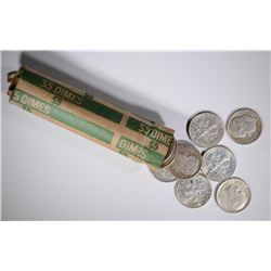 90% SILVER DIME ROLL - MIXED DATES