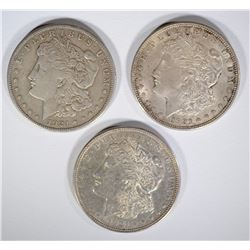 1921 P,D & S MORGAN DOLLARS