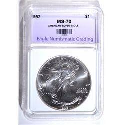 1992 AMERICAN SILVER EAGLE ENG