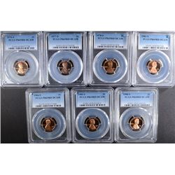 PCGS GRADED LOT OF LINCOLN CENTS ALL PR69RD DCAM