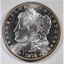 1878-S MORGAN DOLLAR, GEM BU