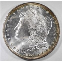 1881 MORGAN DOLLAR, CH BU FLASHY
