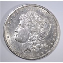 1878-CC MORGAN SILVER DOLLAR, AU/UNC SEMI-KEY