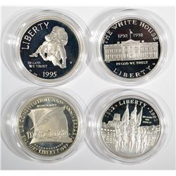 4-Silver Commemorative Sets