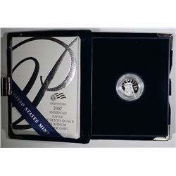 2007 1/10th OUNCE PROOF PLATINUM EAGLE