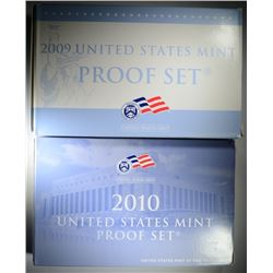 2009 & 2010 U.S. PROOF SETS IN ORIGINAL PACKAGAE