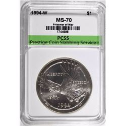 1994-W P.O.W. SILVER DOLLAR, PCSS PERFECT GEM BU