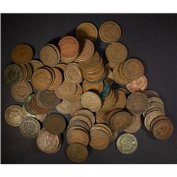100 MIXED DATE CIRC INDIAN CENTS