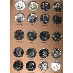 KENNEDY 50C SET-1964-2011 (158 COINS)