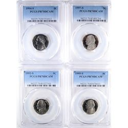 (4) PCGS GRADED PR-70DCAM NICKELS