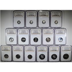 COLLECTORS LOT: 15 NGC GRADED COINS SEE DETAILS