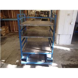 """Rolling Storage Cart with Adjustable Shelves, 38"""" x 30"""" x 68"""""""