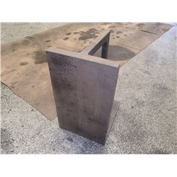 """Steel Right Angle Plate, Overall: 10.5"""" x 12"""" x 18.25"""""""