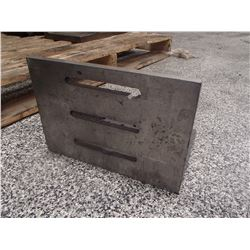 """Steel Right Angle Plate, Overall: 14"""" x 10"""" x 10"""""""